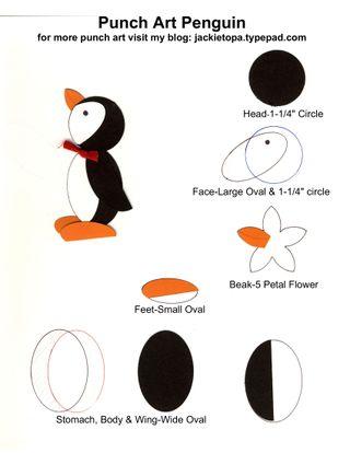 Punch Art Penguin-001