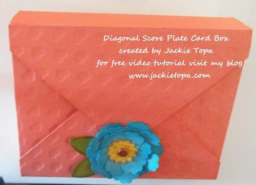 Diagonal Score Plate Card Box