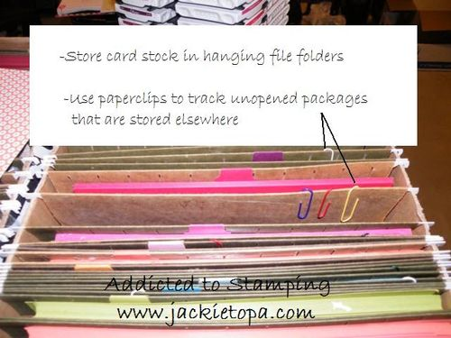 Card Stock Storage