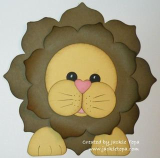Floral Framelit Lion