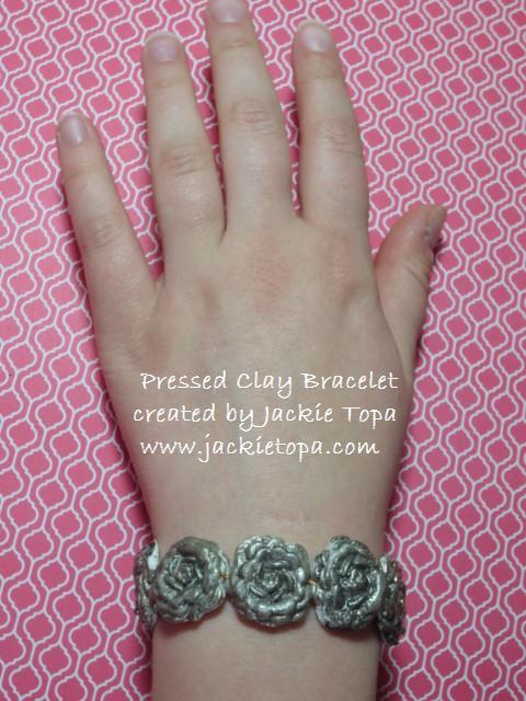 Pressed Clay Bracelet