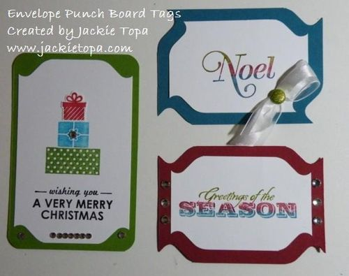 Punch Board Tags