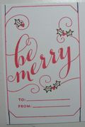 Be Merry Tag