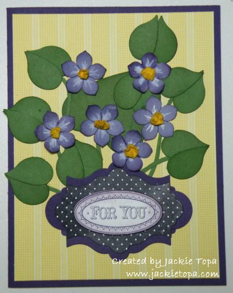 Punch Art Violets