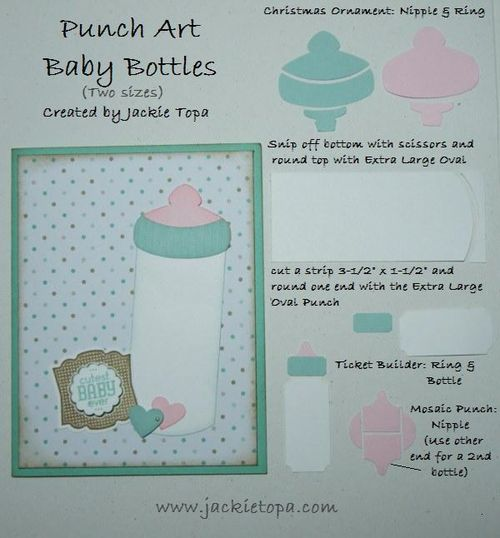 Punch Art Baby Bottles
