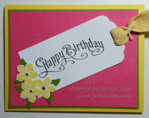 Scalloped Tag Card